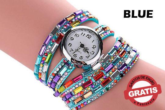 Fabricado con Swarovski Elements y una correa de cuero artificial de alta calidad ¡Desearás que te pidan la hora para presumir de reloj!
