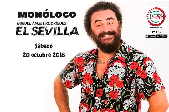 Pasa una tarde divertida con Miguel Ángel Rodríguez 'El Sevilla' en el teatro del colegio Salesianos de Deusto ¡El 20 de octubre!