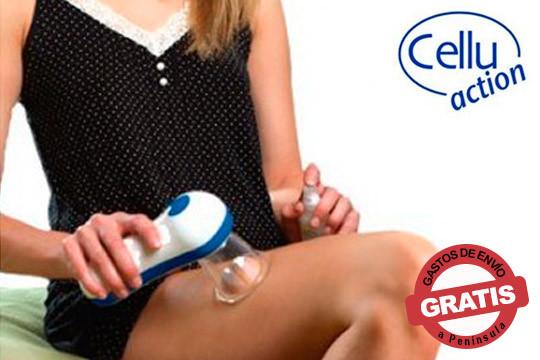 Pon fin a la antiestética celulitis sin dietas ni cirugía gracias a CelluAction ¡Combina masaje con succión para conseguir resultados espectaculares!