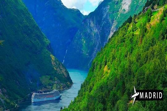 Julio: Crucero de 7 noches por los fiordos noruegos ¡Todo Incluido!