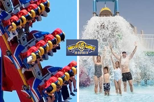 Vive dos días de diversión y risas en el Parque Warner y Warner Beach ¡Entradas de adulto y de niño!