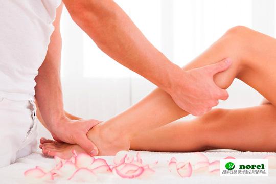 1 o 4 ses. de Tratamiento circulatorio y reductor para piernas cansadas con Vendas frías + Masaje + Presoterapia en el centro Norei