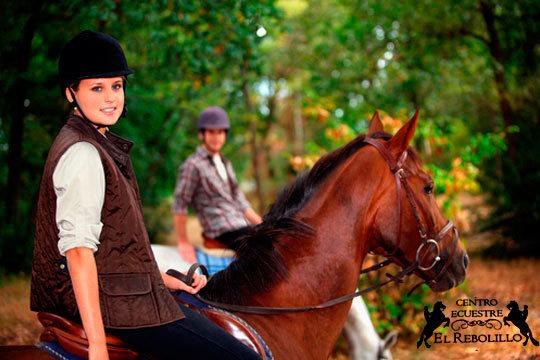 Ruta a caballo de 1 hora con monitor cualificado en el Club Equestre El Rebolillo de Carcedo ¡En contacto con los animales y la naturaleza!