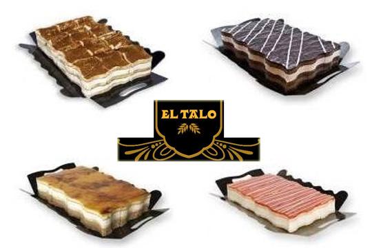 Elige tu sabor favorito con una tarta de 12 raciones en Pastelería El Talo Los Herrán ¡3 chocolates, tiramisú, San Marcos y delicia de queso y fresa!