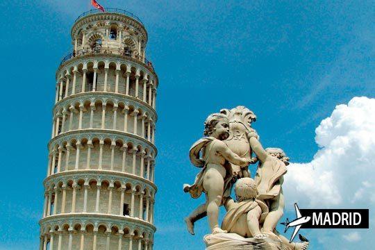 El conjunto monumental de Pisa te espera con este viaje que incluye 3 noches con desayunos en el hotel Bologna ¡Incluye vuelo directo desde Madrid!