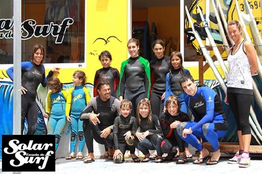 Día de surf o curso de fin de semana ¡Clases impartidas por la familia Solar, campeones de España y Europa!