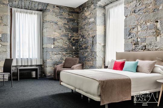 Disfruta de una escapada inolvidable al recién inaugurado Hotel Orduña Plaza ¡1, 2 o 3 noches con desayuno y circuito termal y opción a masaje y entrada al Museo Guggenheim!