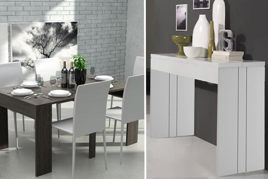 Colectivia muebles colectivia mueble 2 en 1 consola y for Mesa consola extensible ikea