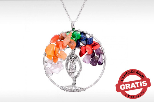 Un collar único que además de elegancia y originalidad, transmite vida y energía ¡El collar del árbol de la vida 7 chakras!