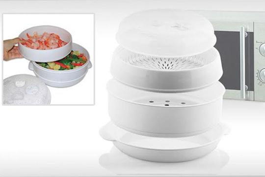 Cocinar al vapor en el microondas dise os for Cocinar vapor microondas