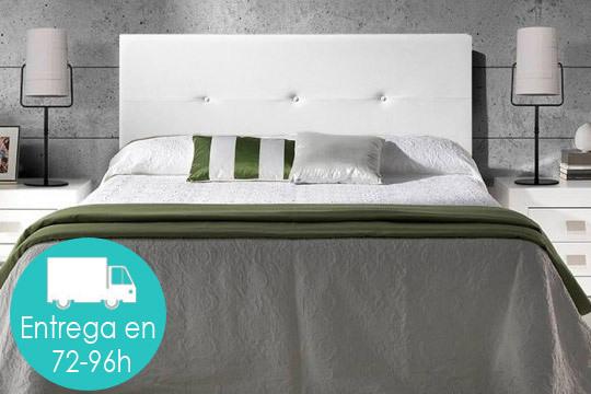 Aporta a tu cama un aire moderno y sofisticado con el cabecero Judith tapizado con piel sintética ¡Envío incluido!