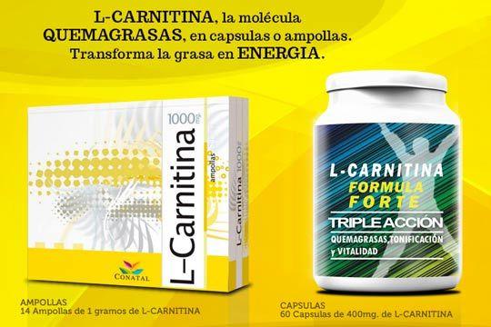 L-Carnitina para mejorar el rendimiento físico y quemar más grasas