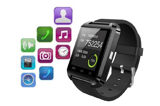 Reloj inteligente Smartwatch (negro)