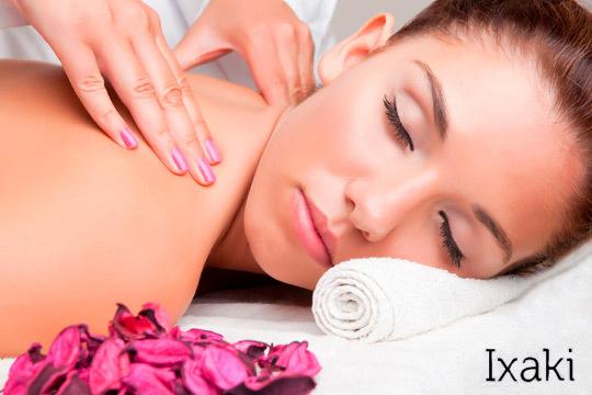 Protege tu cuerpo del estrés y la tensión diaria con 1 o 3 masajes descontracturantes de 45 minutos en el Centro de Estética Ixaki ¡Invierte en tu bienestar!