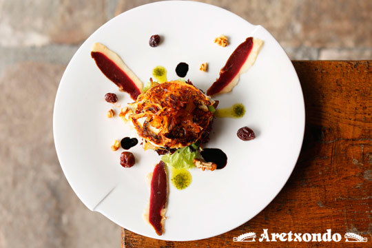 Menú de lujo con 7 platos en el Restaurante Aretxondo de Galdakao