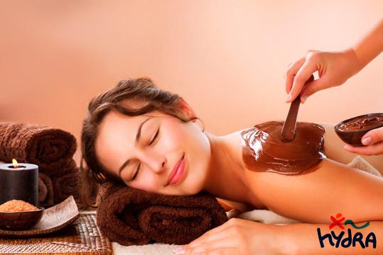 Circuito Spa + Exfoliación corporal + Envoltura de chocolate + Masaje cervical en Hydra ¡Te mereces este capricho!
