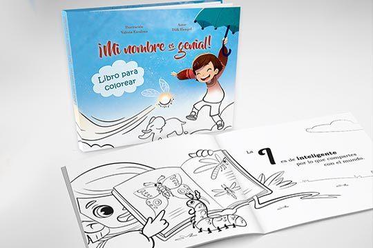 Libro personalizado para los más peques de la casa 'Mi nombre es genial, libro para colorear' ¡Cada nombre genera una historia única!