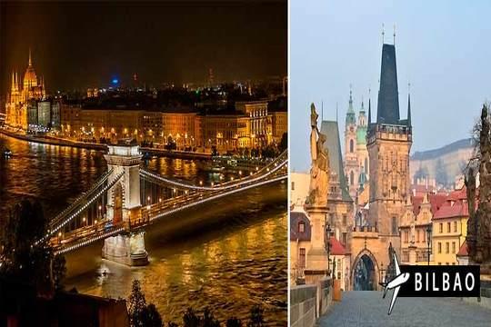 17/04: Praga y Budapest con vuelo desde Bilbao ¡6 noches + desayunos!