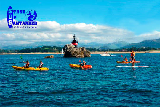 ¡Descubre Santander desde el agua! Con Stand Up Santander recorrerás las tranquilas aguas de la Bahía de Santander en kayak