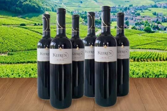 Disfruta en casa con el exquisito sabor de un vino tinto Kefrén Reserva del 2009 D.O. Rioja