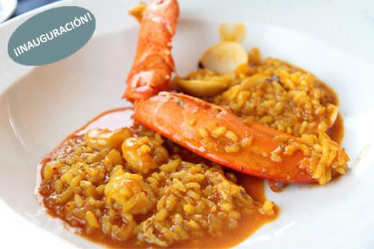 Menú de arroz con bogavante, entrantes y crianza en Gastrobar Donos