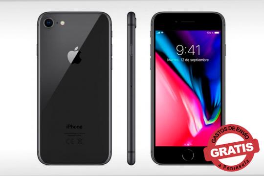 Disfruta de este exclusivo Iphone 8 en color negro: Con pantalla de retina, cámara de 12Mpx y mucho más ¡Con 64Gb de memoria!