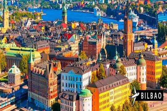 Estocolmo con vuelo directo de Bilbao + 3 o 4 noches + desayuno