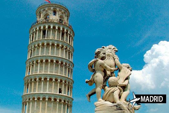 Pisa con vuelo desde Madrid + 3 noches con desayuno ¡Te quedarás fascinado con la inclinación de la torre!