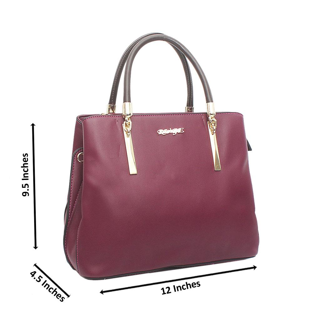 Purple Ruge Medium Leather Handbag