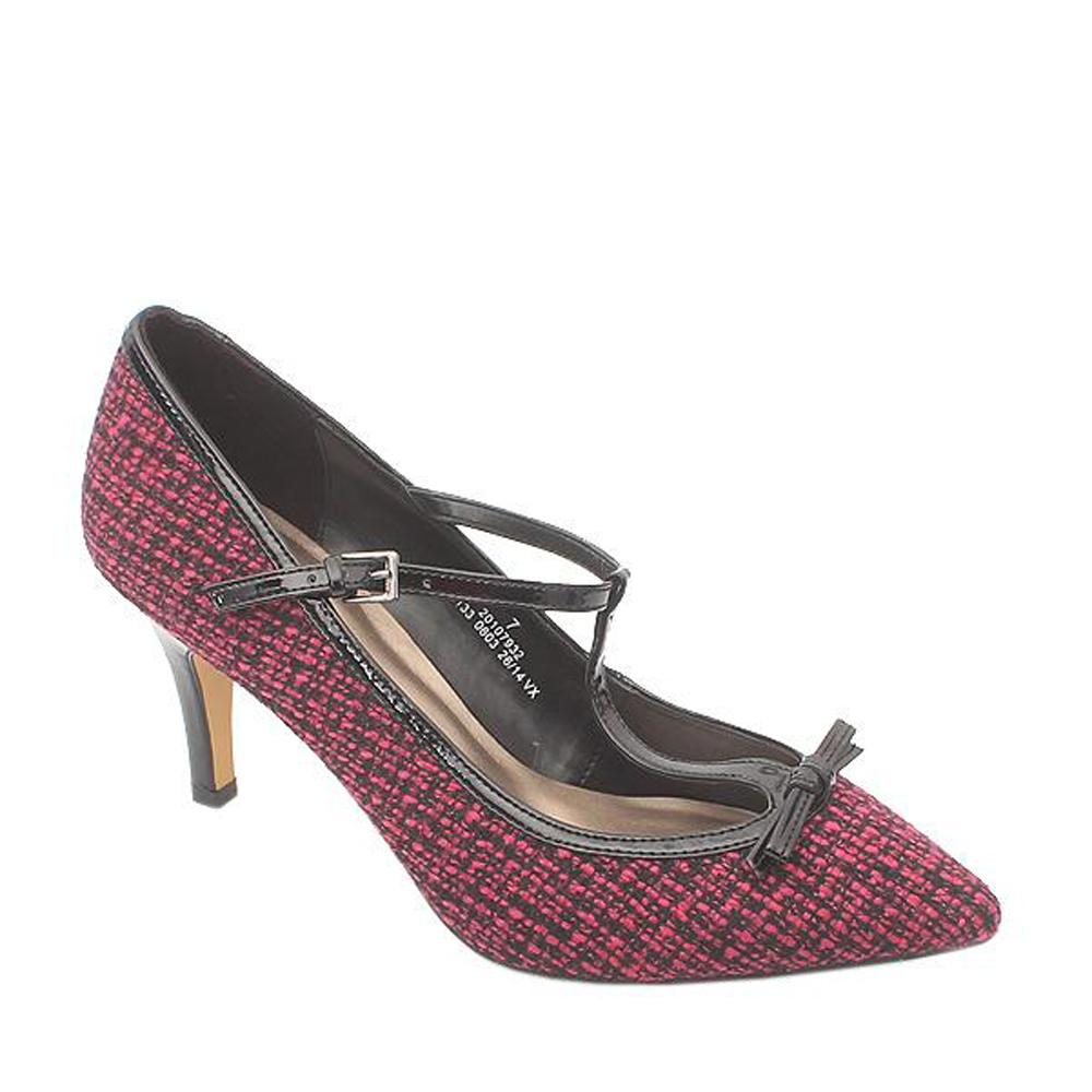 Mark & Spencer Wine Black Threaded Ladies Heel Shoe