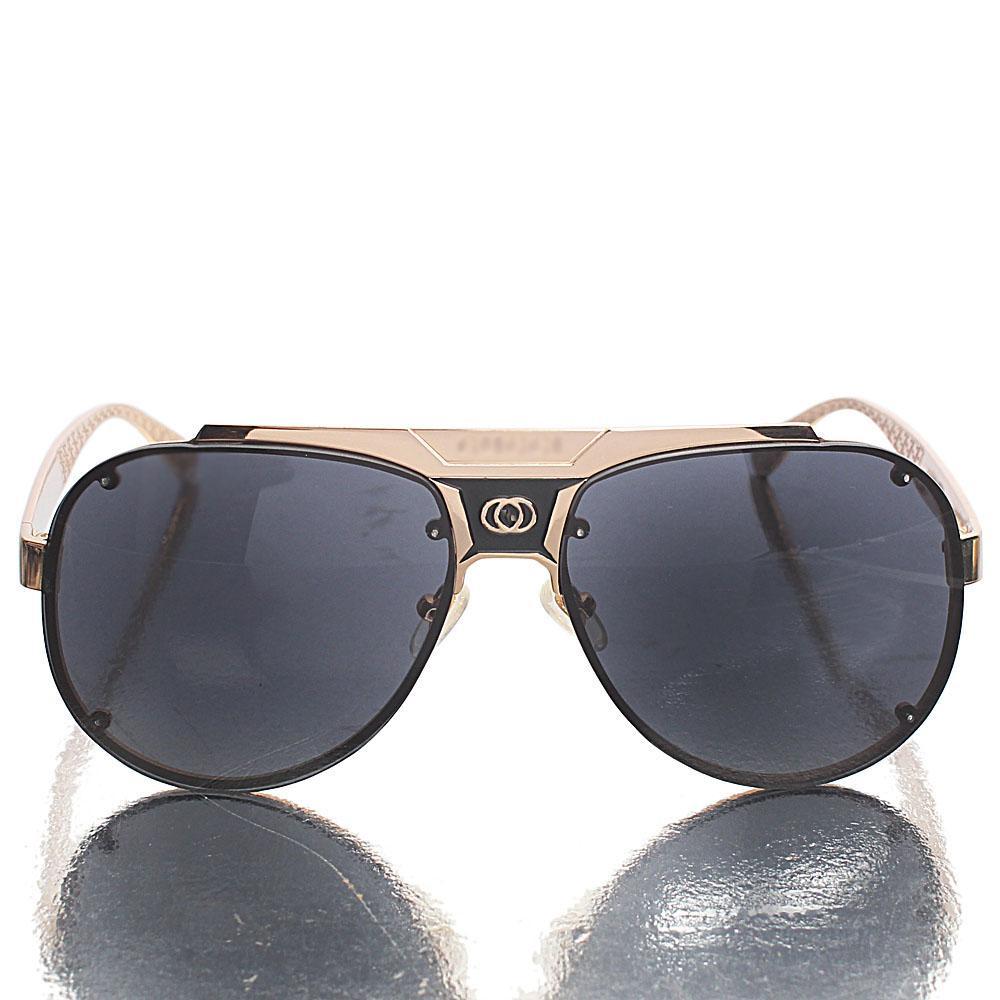 Bronze Black Aviator Sunglasses