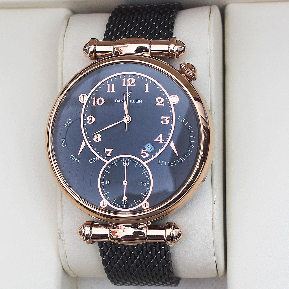 Daniel Klein Big Timer Fashion Mesh Watch