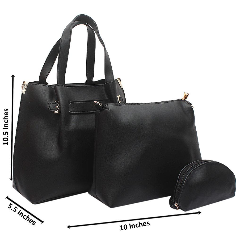 Black Mabel Medium Leather Handbag