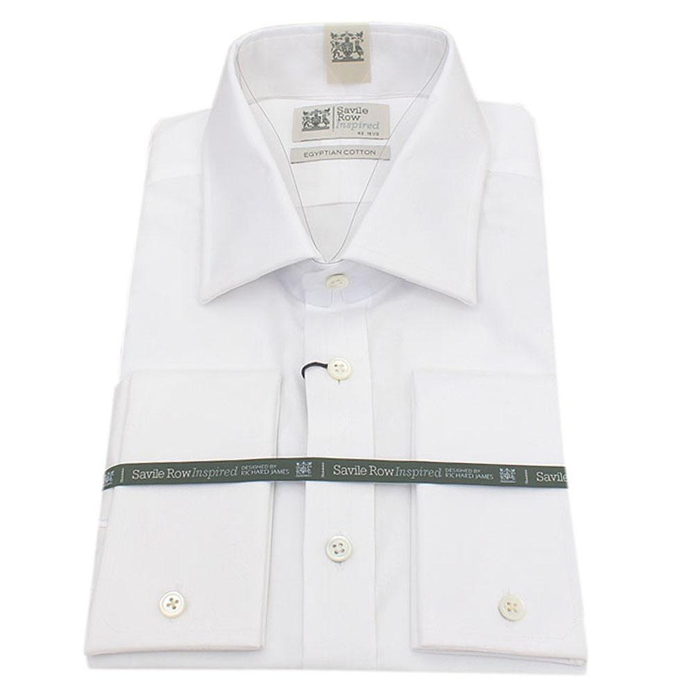 Buy savile row white egyptian cotton men shirt sz 17 for Mens egyptian cotton dress shirts