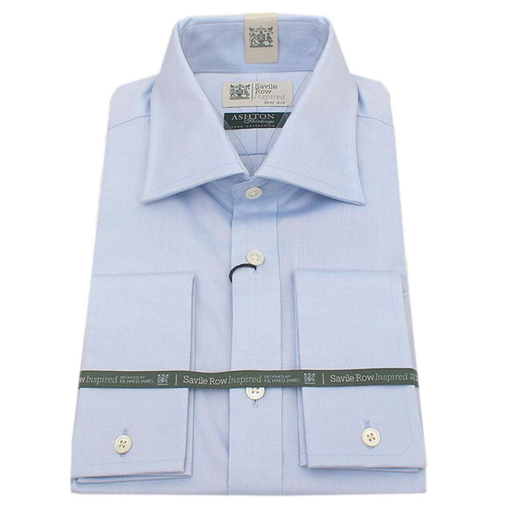 Richard James Sky Blue L/Sleeve Savile Row Inspired  Cuff Shirt -Sz 14.5