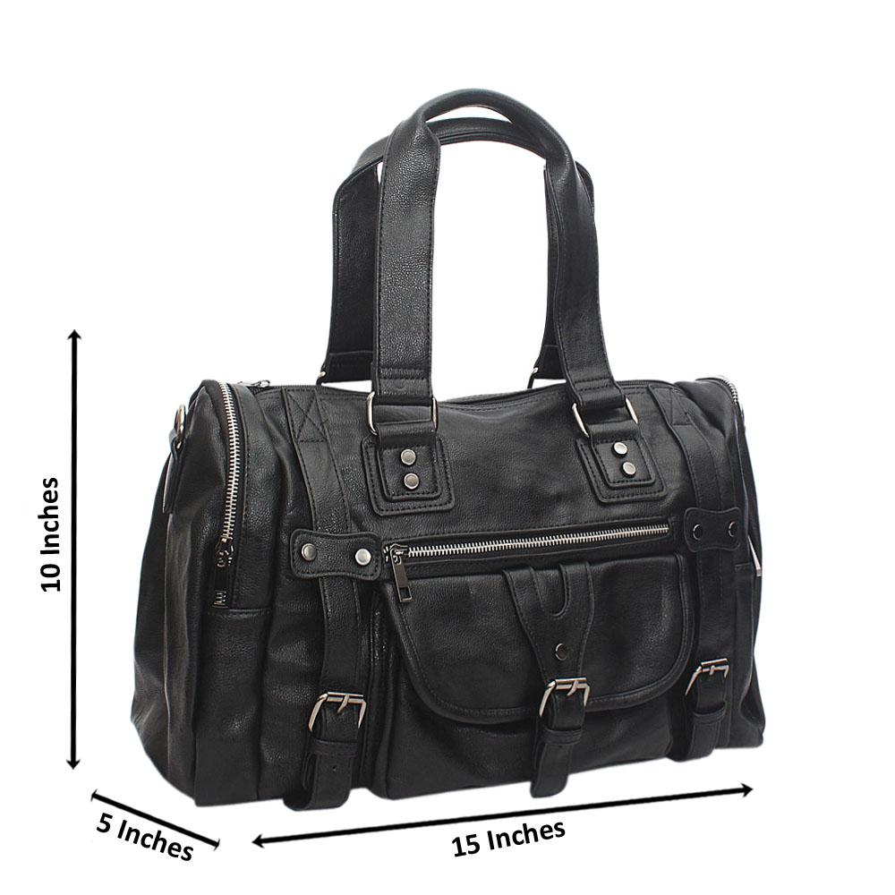Montego Black Cassania Leather Man Bag