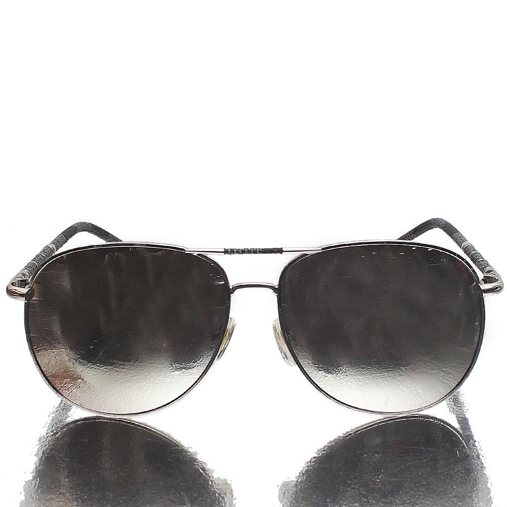Silver Gray Aviator Mirrored Lens Sunglasses