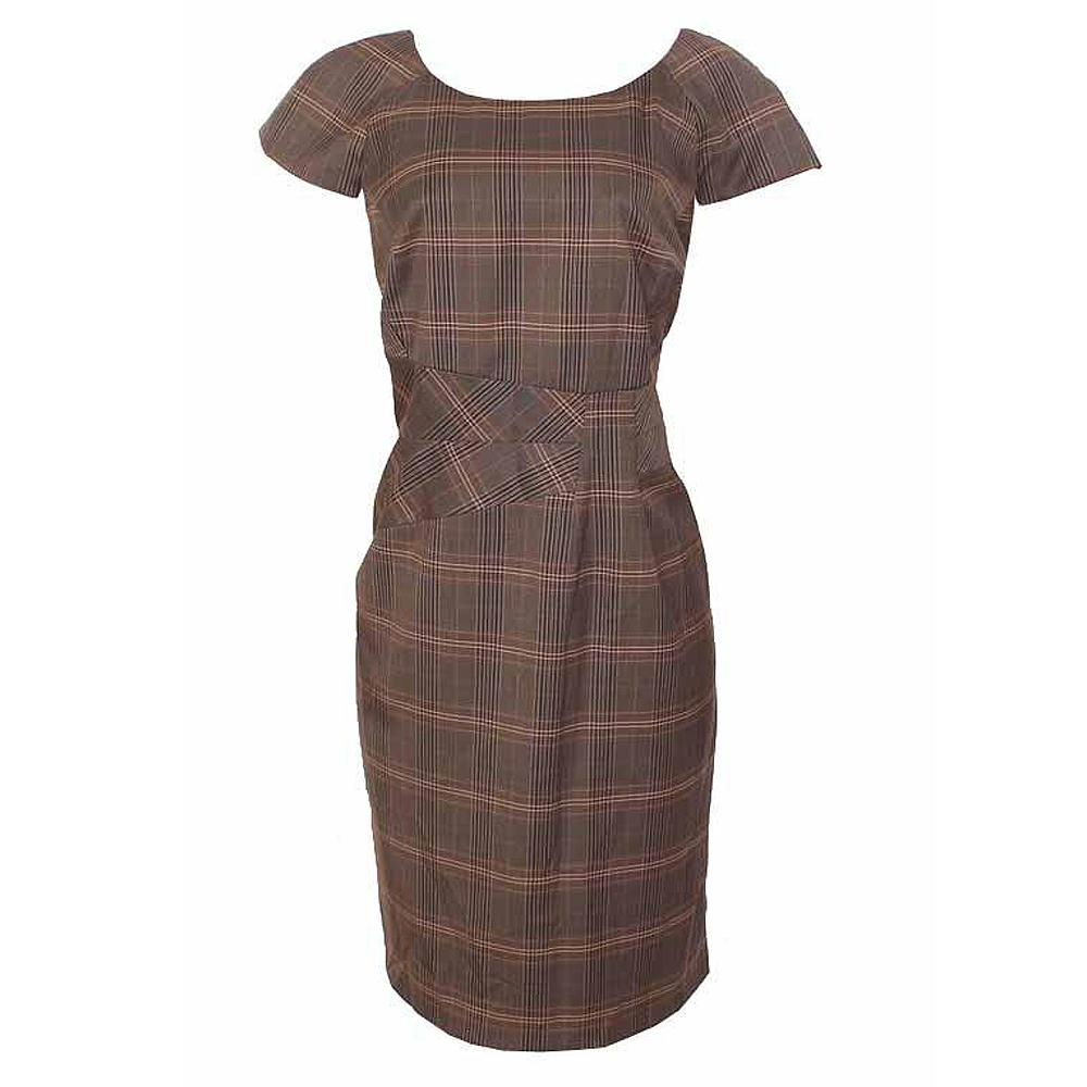 M&S Woman Brown Chiffon Dress