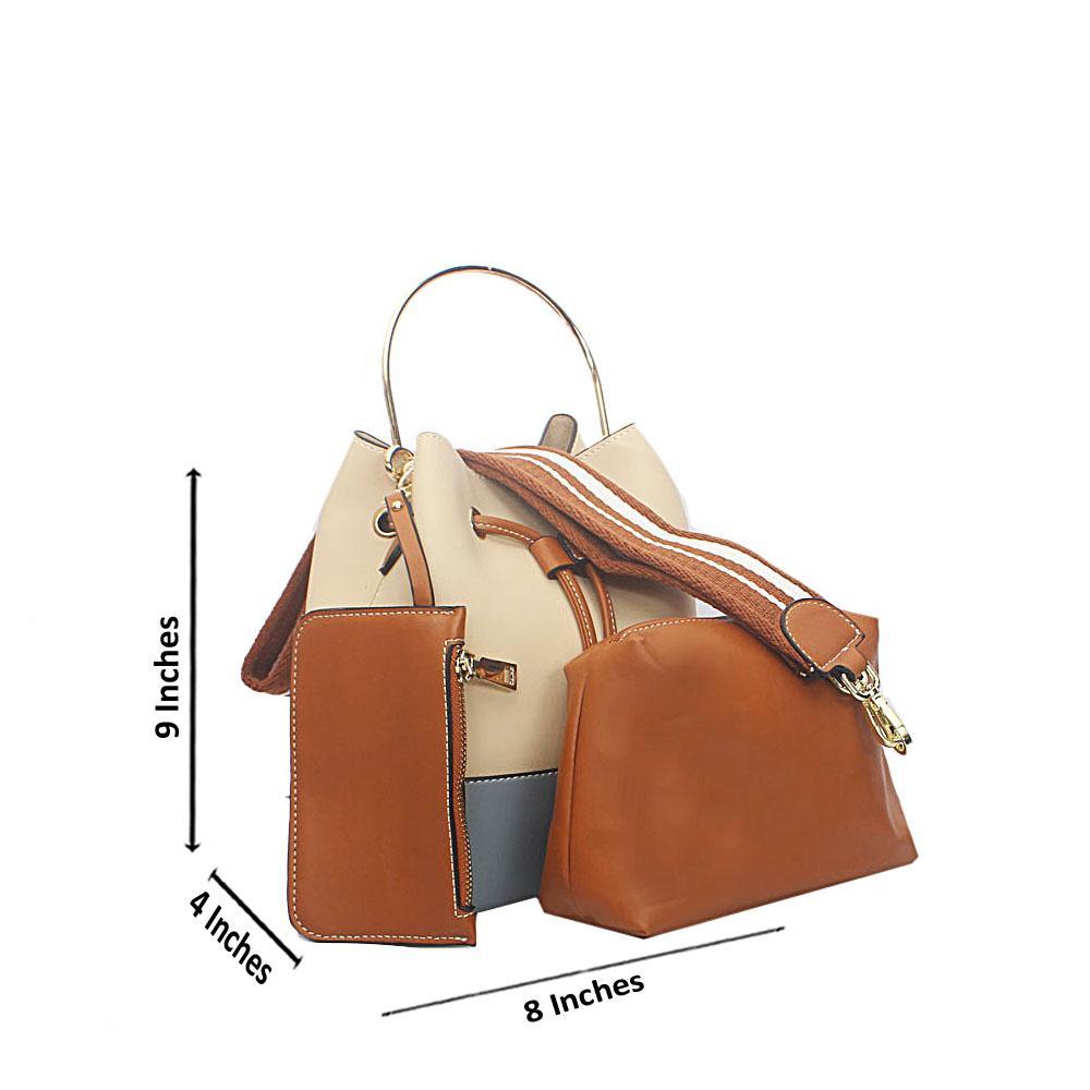 Sky Blue Cream Lenine Tandy Leather Mini Handbag