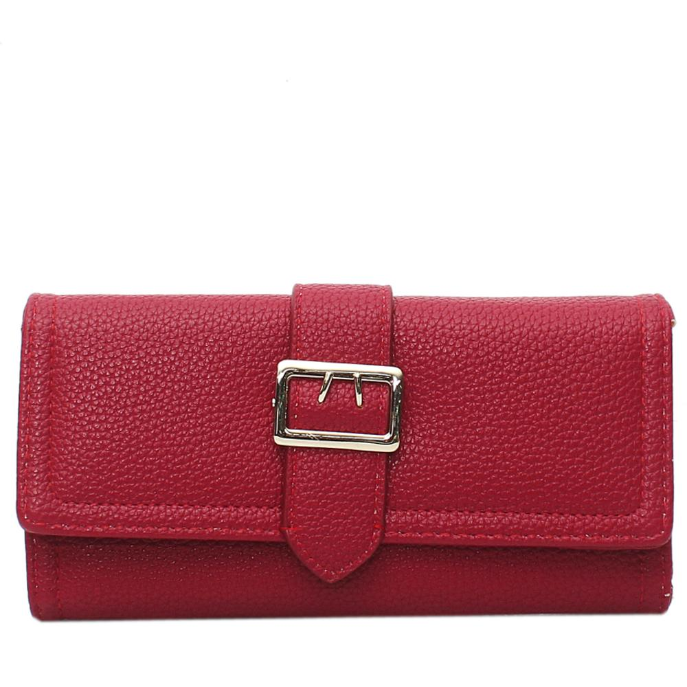 Wine Leather Ladies Wallet