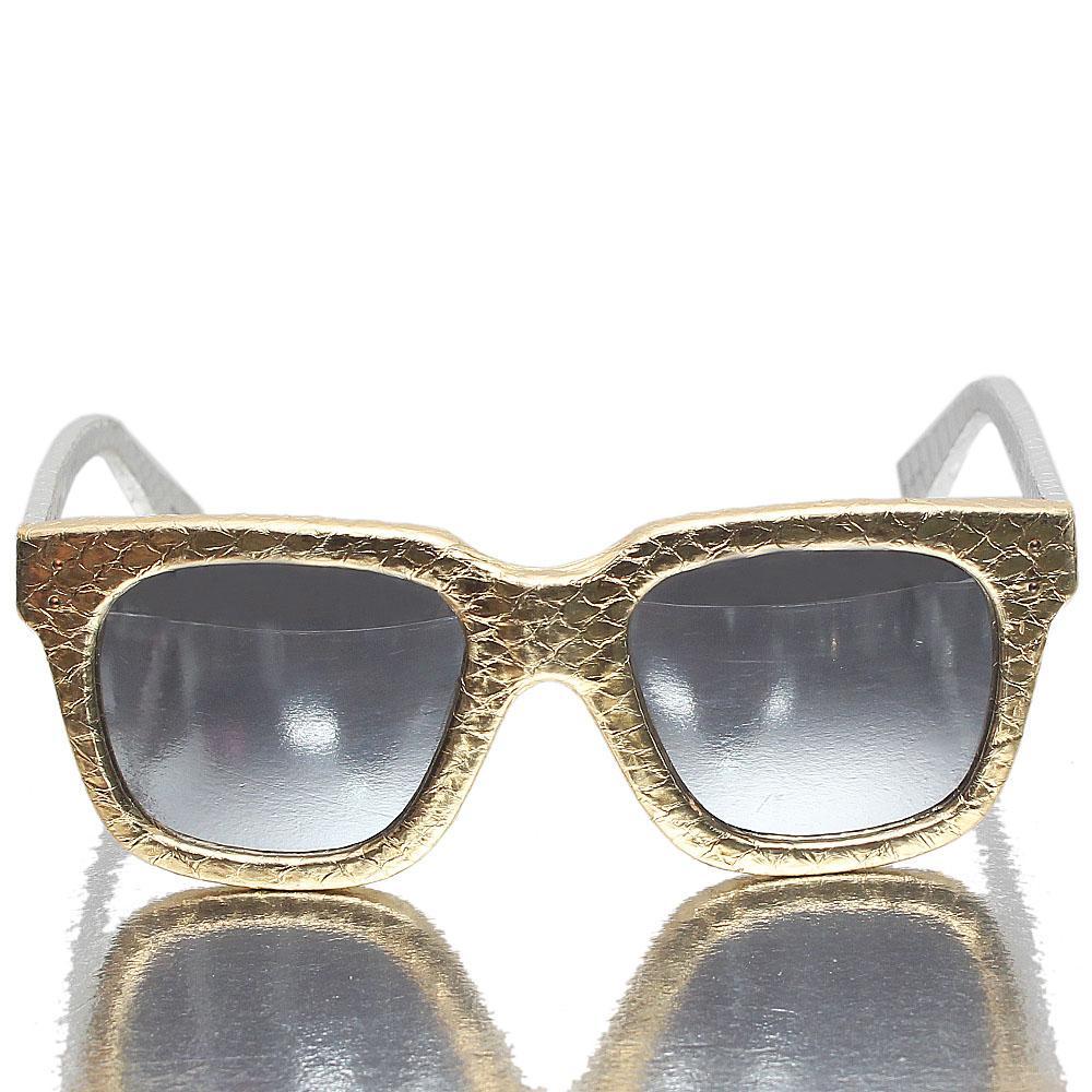 Gold Silver Wayfarer Metallic Polarized Lens Sunglasses