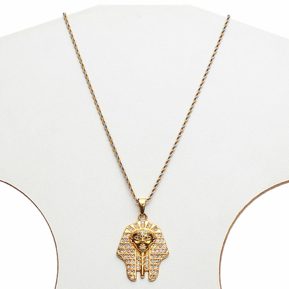 Egyptian Two-Tone Thin Necklace