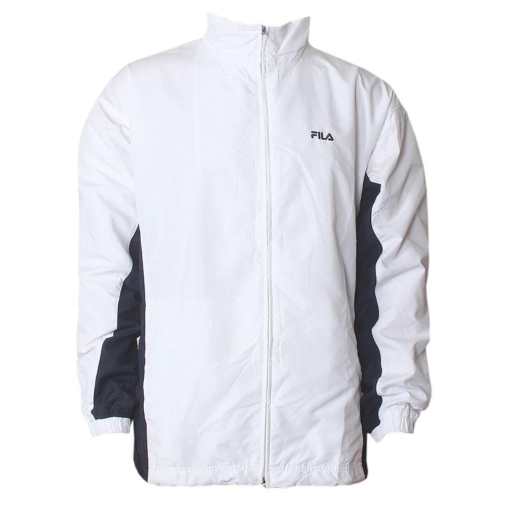 Fila White Blue Men Track Jacket