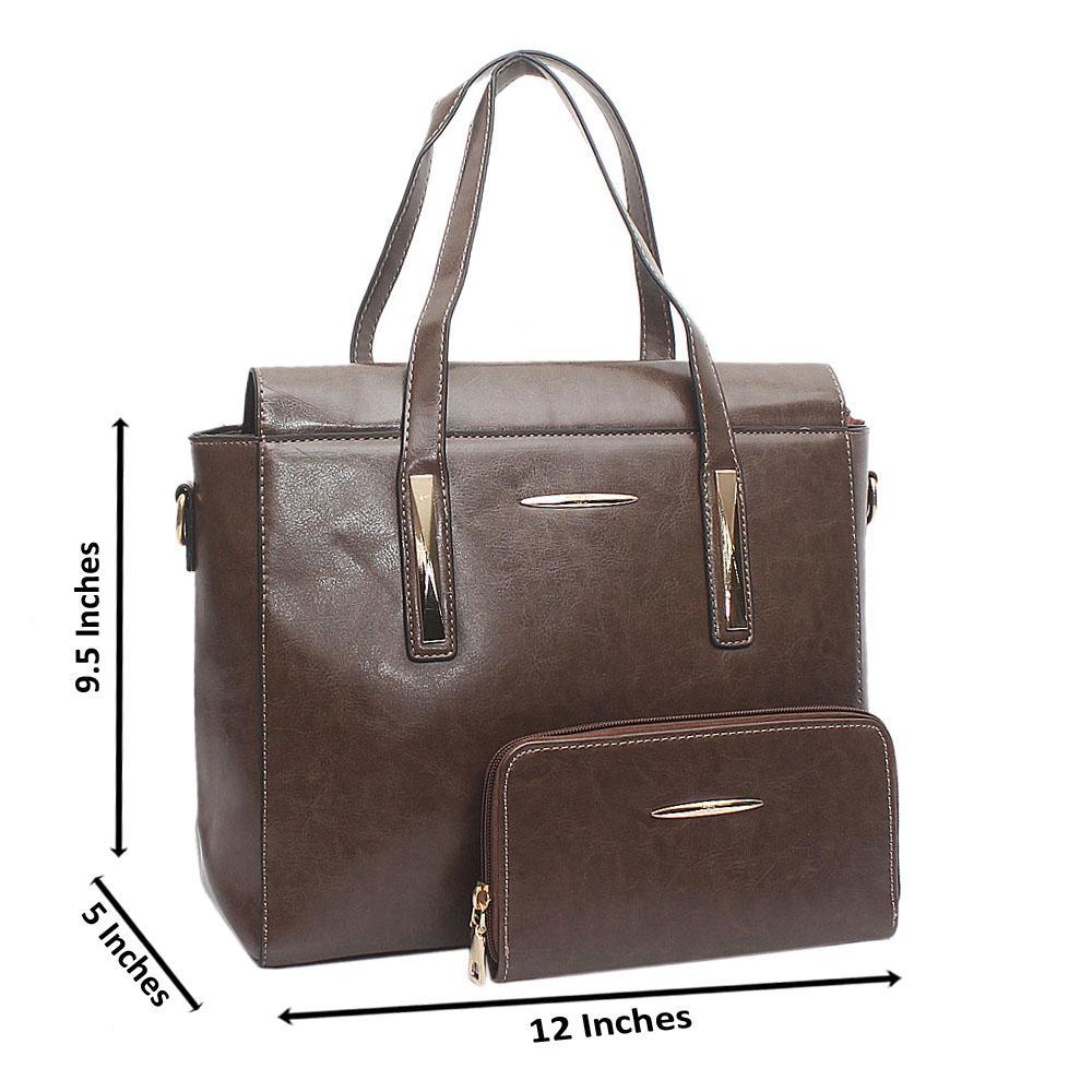 Autograph Khaki Leather Medium Bag Wt Purse