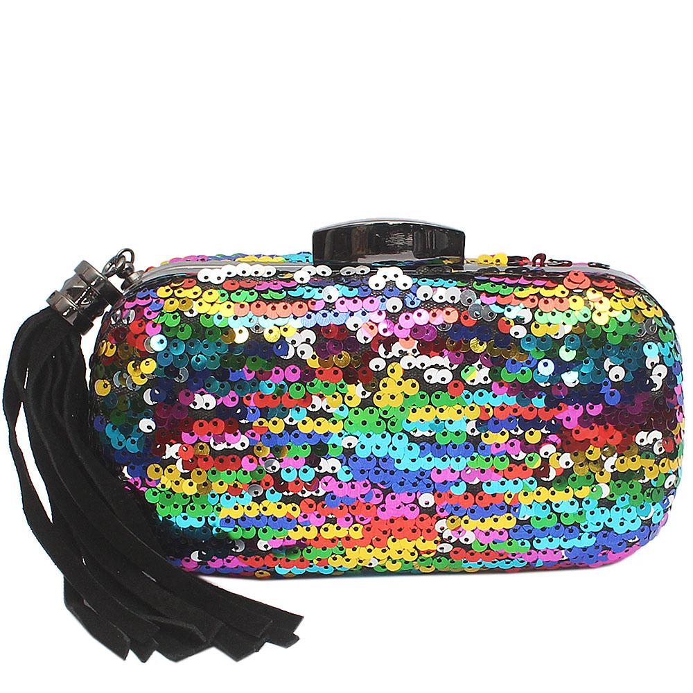 Multi-Coloured Lilly Cluth Purse