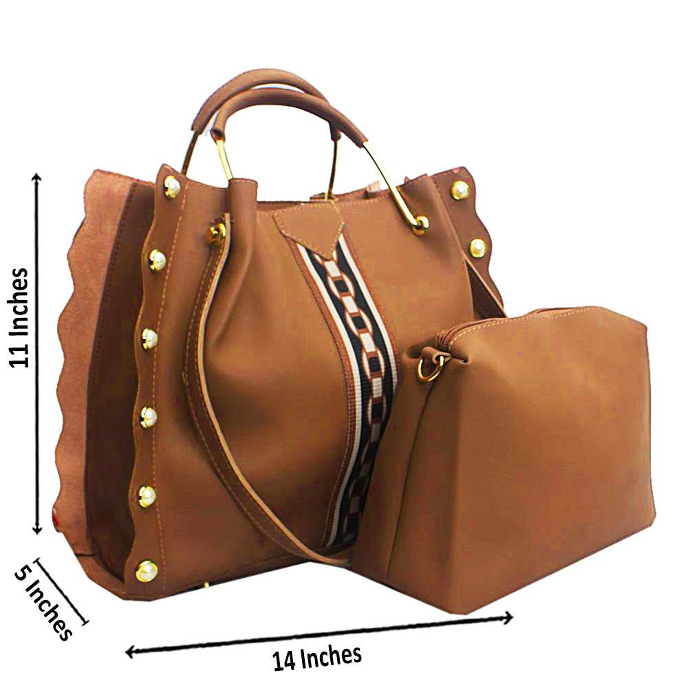 Brown Eva Plane Leather Handbag
