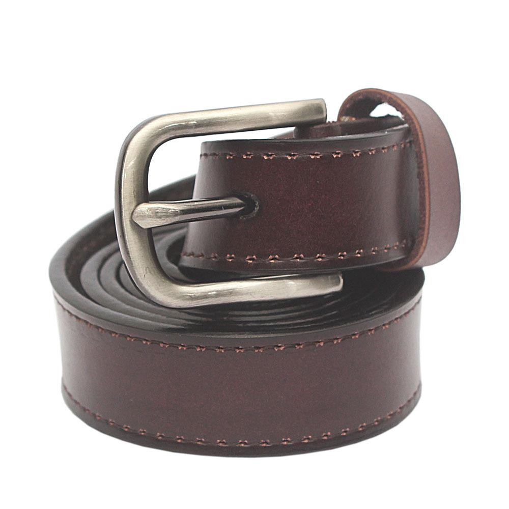 Brown Premium Leather Ladies Belt L 43 Inches