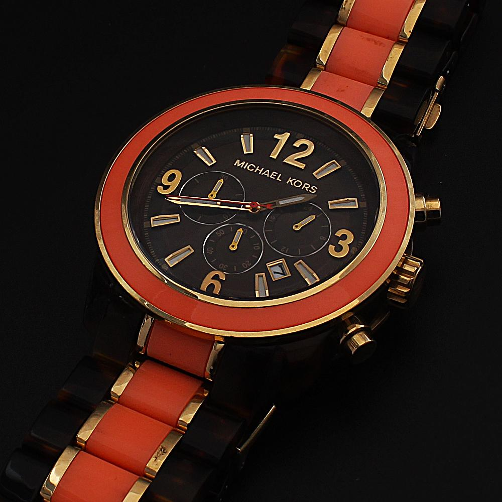 Brown Peach Ceramic Chronograph Men Watch-