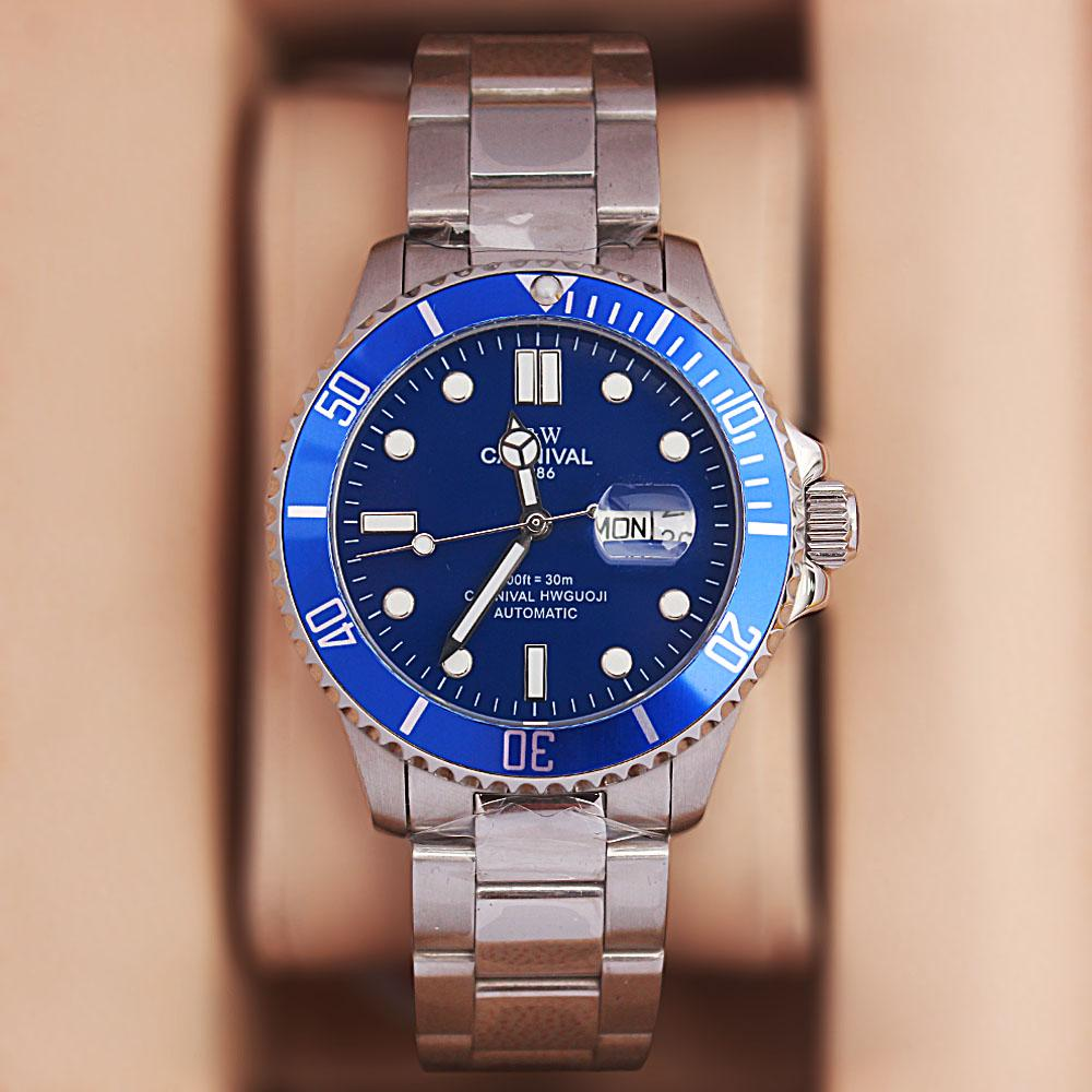 Shanghai Sport GP Silver Blue Stainless Steel Automatic Watch