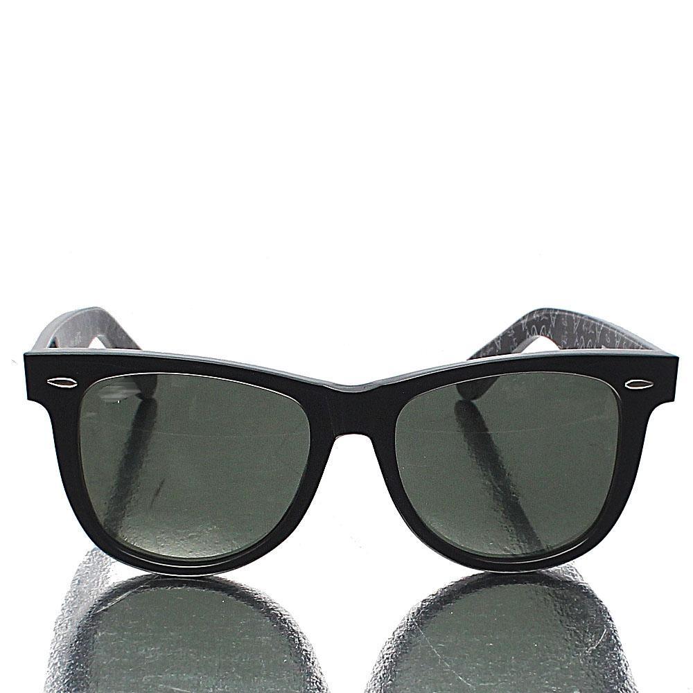 Black Captain Wayfarer Dark Lens Sunglasses